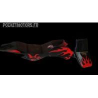 Carénage Pocket Quad complet (noir et rouge) type 1