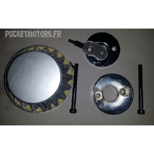 Filtre à air conique avec adaptateur et starter manuel Pocket cross DR 1E44F