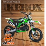 Mini-moto cross / Pocket Bike cross, MICO 49cm3, verte