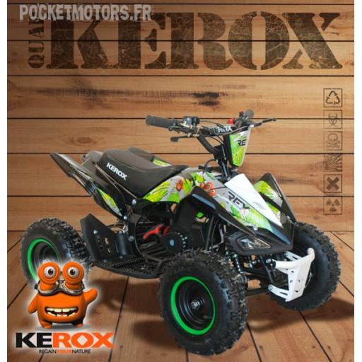 Pocket quad KEROX 49cm3 (roues de 6 pouces) (noir et vert)