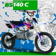 Pit Bike / Dirt Bike BASTOS BS 140 C, roues 14/17