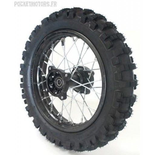 Roue arrière 14 pouces moyeu Racing axe de roue 15mm Dirt bike Pit bike