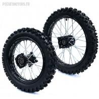 roue dirt Av 17 Ar 14 pneux GUANLI renforcés