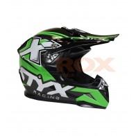 Casque Enfant STYX (taille 51-52) noir et vert