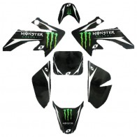 Kit décoration Monster Energy, type CRF50