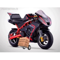 Pocket Bike piste model ZR 49cm3 (noir et rouge)